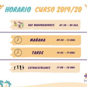 HORARIO CURSO 2019/20