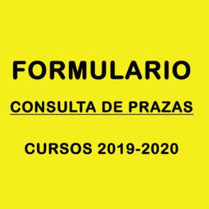 Formulario consulta de prazas 2019-20