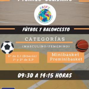 """Mañana te esperamos en eI   """" I Torneo Solidario Fútbol  y Baloncesto"""""""