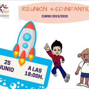 Reunión  4 Ed.Infantil  curso 2019/20