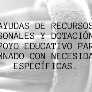 Ayudas para alumnado con necesidades específicas.