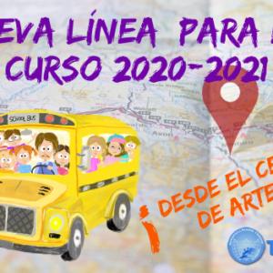 Transporte escolar – Nueva ruta 2020-2021